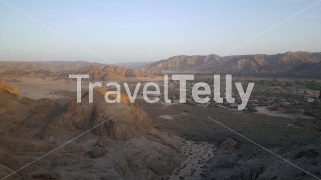 Landscape at the Spitzkoppe in the Namib desert of Namibia