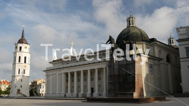 The Cathedral Square in Vilnius Lithuania
