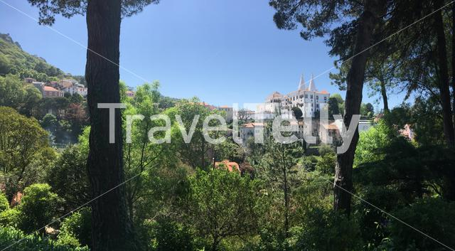 Panorama from the Sintra National Palace in Portugal