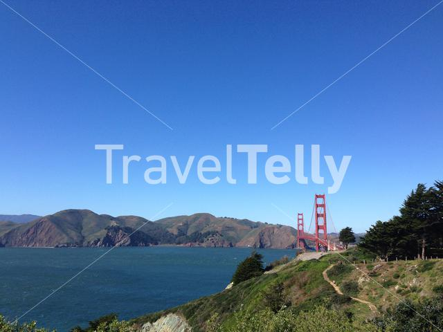 Pacific Overlook and the Golden Gate Bridge in San Francisco