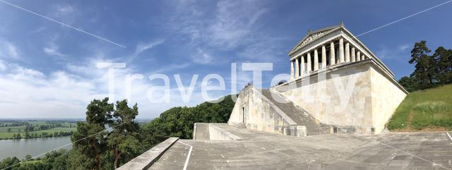 Panorama from The Walhalla in Donaustauf, Germany