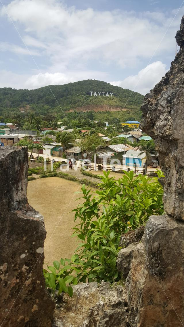 View from 17th century Fort Santa Isabelle in TayTay, Philippines