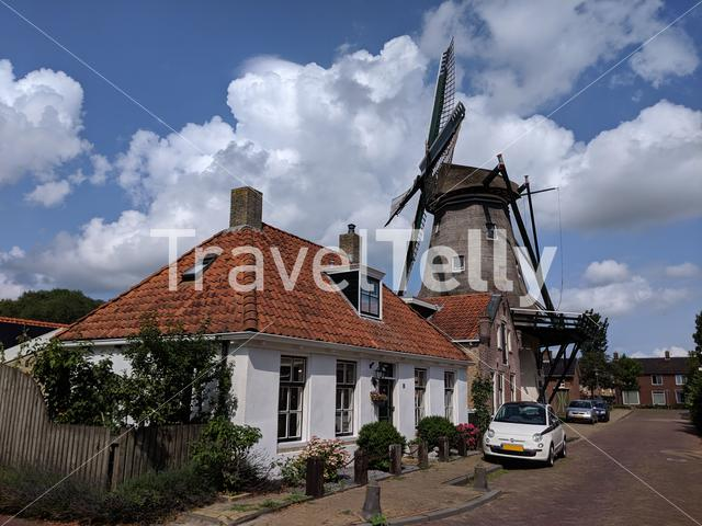 Windmill in Woudsend, Friesland The Netherlands