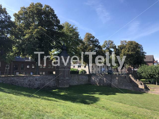 City wall in Rees, Germany