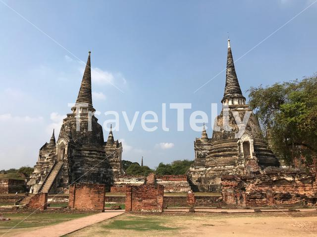 Wat Phra Sri Sanphet was the most important temple in the Ayutthaya Kingdom, Thailand