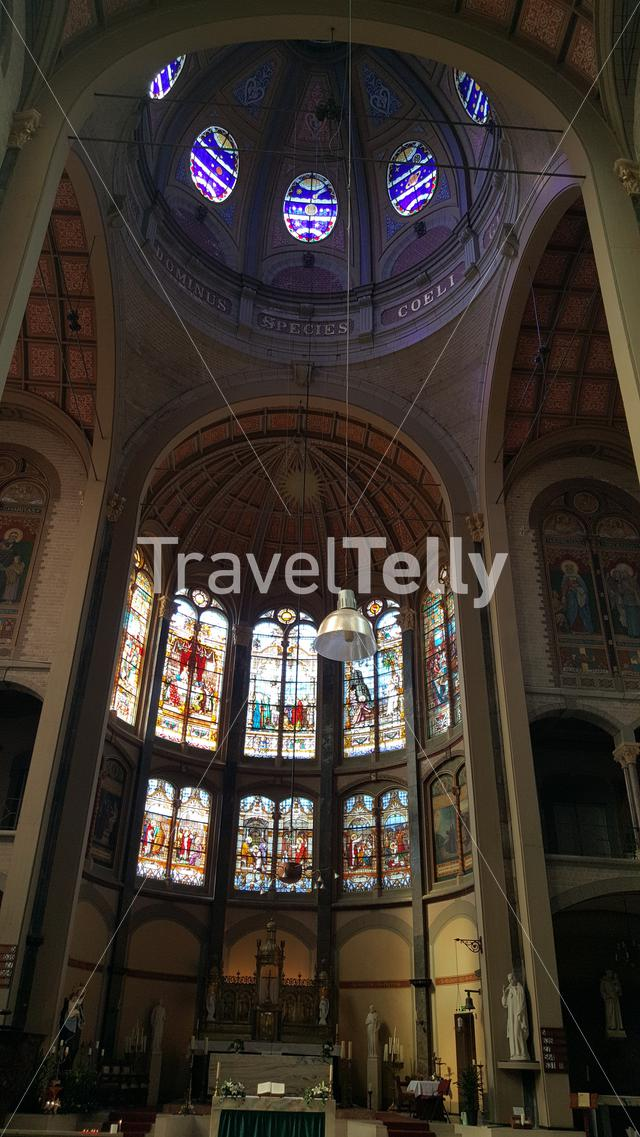 Interior of Dome church Cyriacus and Franciscus in Hoorn