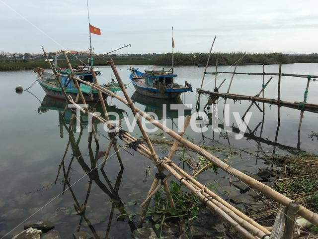 Fishing boats in Hoi An Vietnam