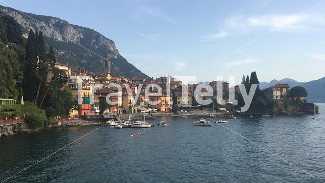 View of Varenna from the Lake Como