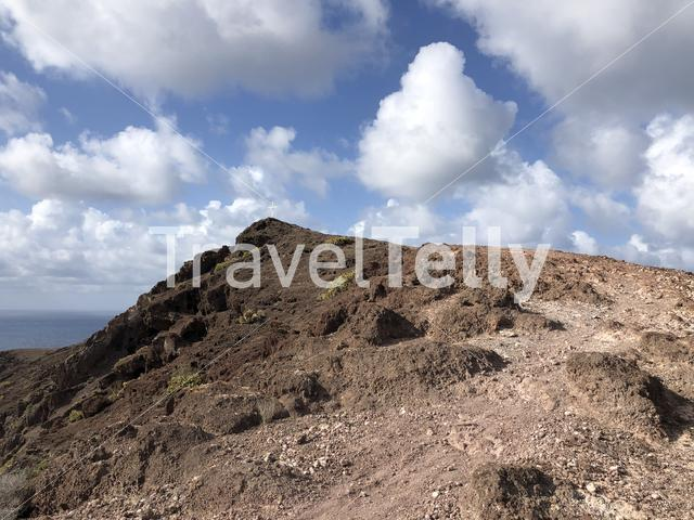 Cross on top of the hill at La Isleta, Gran Canaria