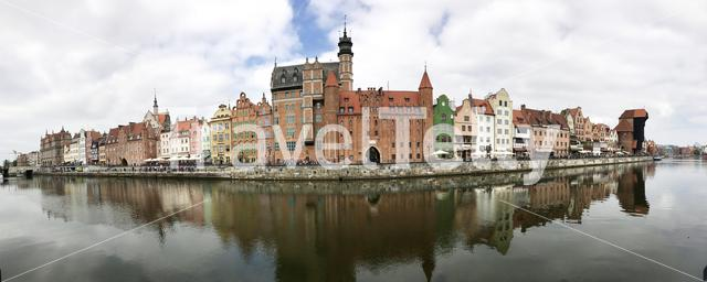 Panorama from the old town of Gdańsk Poland