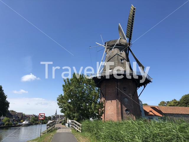 Windmill in Burdaard Friesland The Netherlands