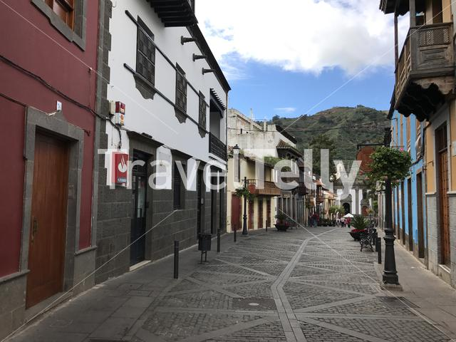 Street in the old town of Teror Gran Canaria
