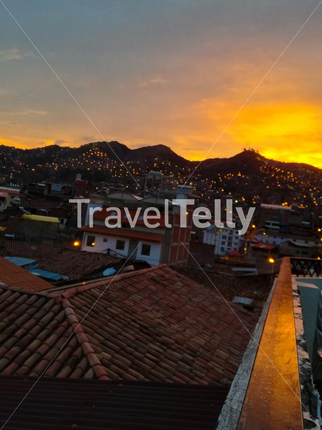 Rooftop Sunset in Cusco