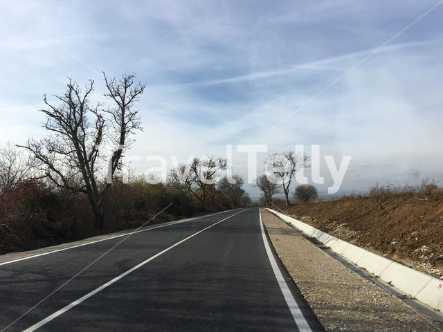 New asphalt road through Bulgaria