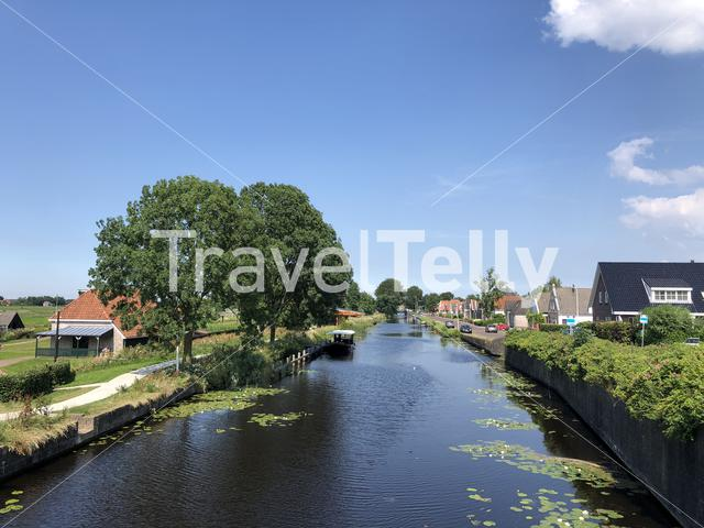Canal in Nij beets, Friesland, The Netherlands