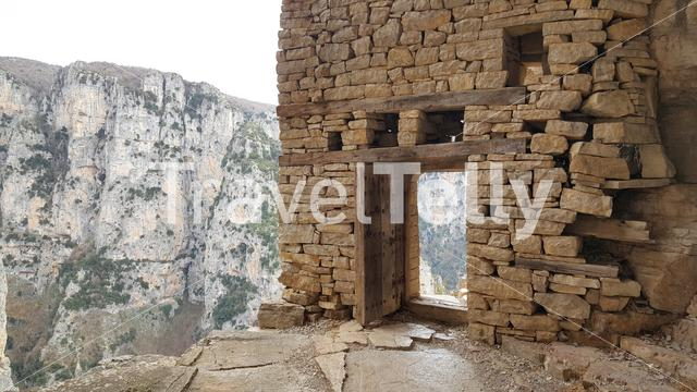Gate at the Monastery of Saint Paraskevi an abandoned monastery in Zagori Greece