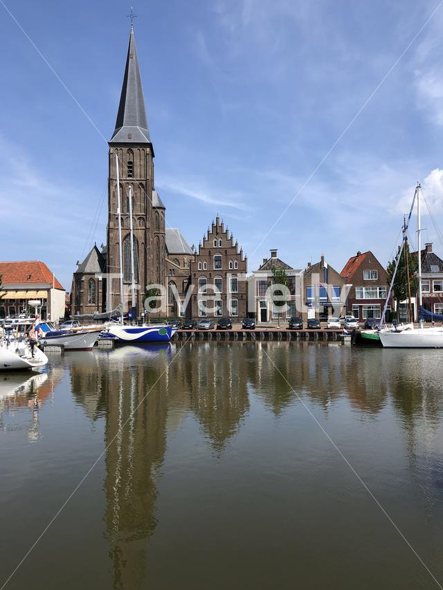The Zuiderhaven in Harlingen, Friesland The Netherlands