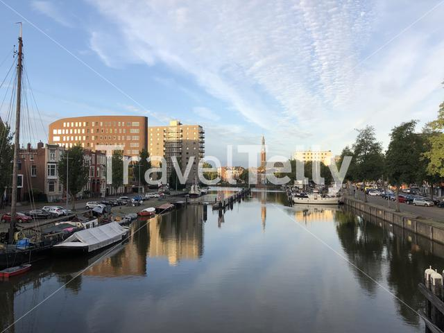 Oosterhaven in Groningen The Netherlands