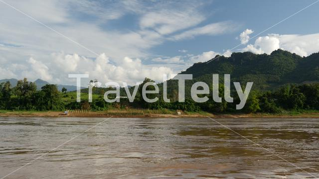 View from the Mekong river in Laos