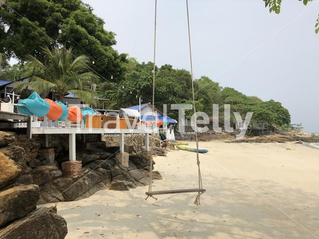 Swing at the beach on Koh Samet island in Thailand