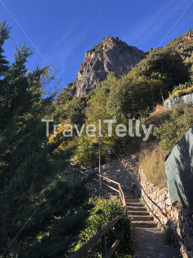 Stairs in to the mountains around Andorra la Vella