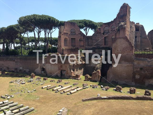 Stadio Palatino at the Roman Forum in Italy Rome