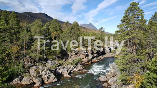 River in Ovre Dividal National Park Norway