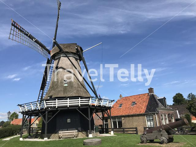 Windmill de kaai in Sloten, Friesland The Netherlands