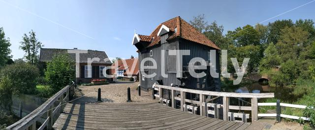 Panorama from the village Den Haller, The Netherlands