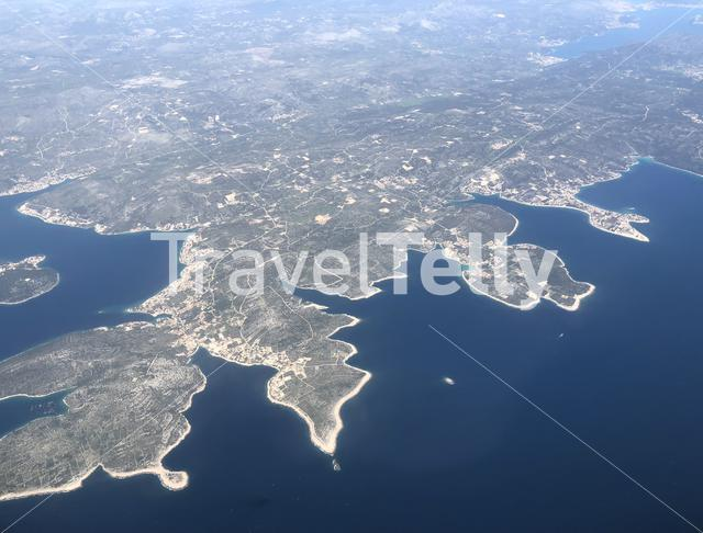 Flying over the coast of Croatia