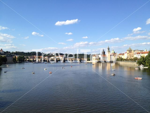 The Vltava river in Prague Czech Republic