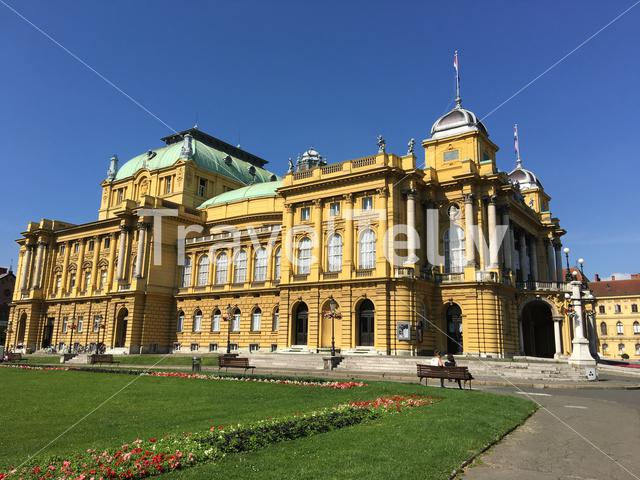 The Croatian National Theatre in Zagreb Croatia