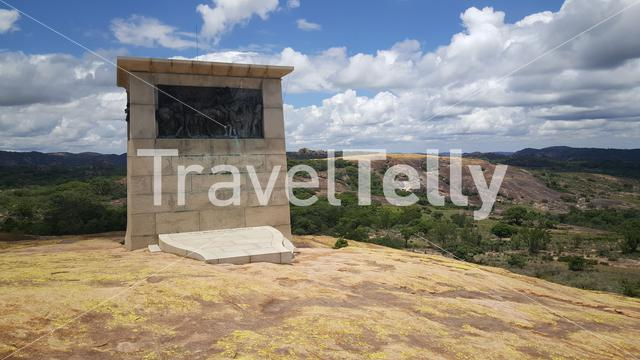 Cecil john rhodes grave monument at Matobo National Park in Zimbabwe