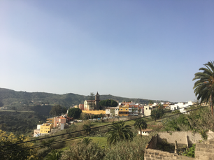 Little town of Santa Brigida in the late afternoon
