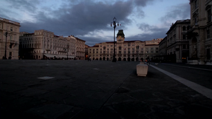 Time lapse from Piazza Unità d'Italia at night in Trieste Italy