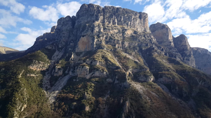 Massive mountain in the Vikos Gorge of northern Greece