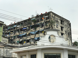 Old building in chinatown of Bangkok Thailand