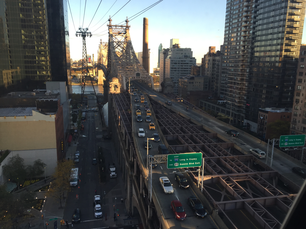 View from Roosevelt Island Tramway in New York City