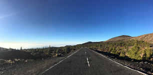 Panorama from a road through Teide National Park on Tenerife Canary Islands