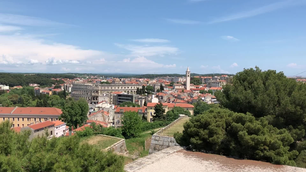 View from the Venetian fortress in Pula Croatia