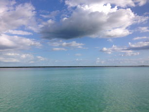 Lake Bacalar in Quintana Roo Mexico