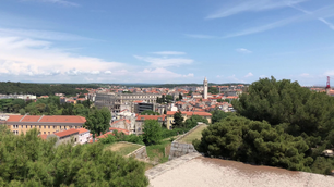 Time lapse from the Venetian fortress in Pula Croatia
