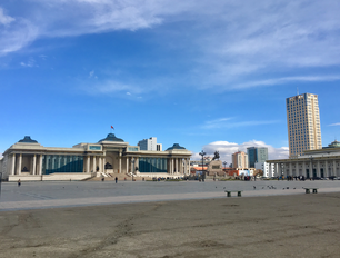 Chinggis Square (Sükhbaatar Square) the central square of Ulaanbaatar Mongolia