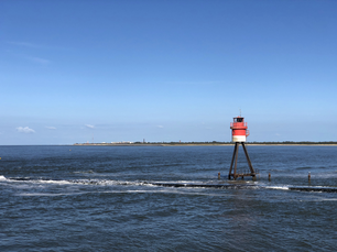 Watch tower in the harbor of Borkum island, Germany