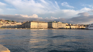 Time lapse from the skyline of Trieste Italy