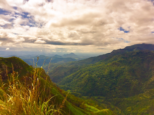 Mountain landscape around Little Adam's Peak in Ella, Sri Lanka