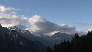 Time lapse from the clouds and shadow on the French Alps