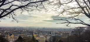 Skyline of Paris from sacre coeur