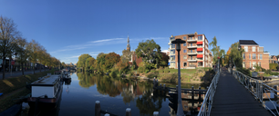 Panorama from the canal around Groningen, The Netherlands