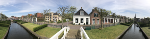 Panorama from the Ee gracht in IJlst The Netherlands